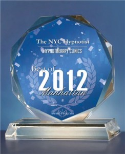 The NYC Hypnotist Is Awarded Best Of 2012 Award